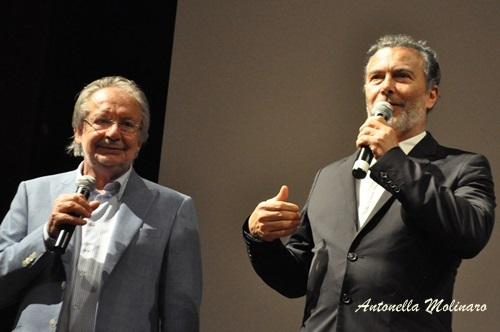 Il direttore artistico Felice Laudadio e l'attore e regista Paolo Sassanelli