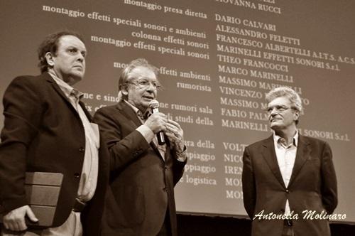 Il regista Mario Martone con Felice Laudadio ed Enrico Magrelli