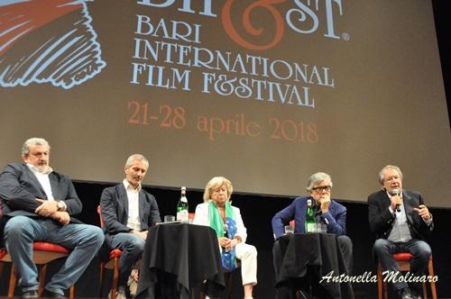 Michele Emiliano, Gianrico Carofiglio, Margarethe Von Trotta, Giancarlo De Cataldo e Felice Laudadio