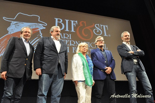 Felice Laudadio, Michele Emiliano, Margarethe Von Trotta, Giancarlo De Cataldo e Gianrico Carofiglio