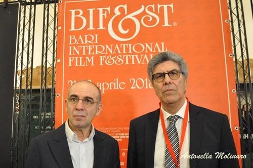 Il regista Giuseppe Tornatore con Ninni Panzera