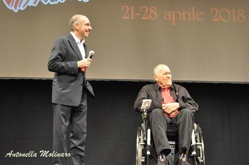 I registi Bernardo Bertolucci e Giuseppe Tornatore
