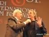Il conduttore televisivo Pippo Baudo con il comico barese Gianni Ciardo