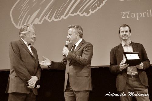 Paolo Del Brocco con Felice Laudadio ed Andrea Occhipinti
