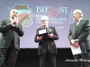 Ennio Morricone e Giuseppe Tornatore sul palco del Petruzzelli