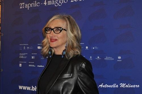 L'attrice Lunetta Savino